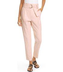 women's a.l.c. diego high belted waist crop pants