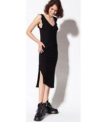 vestido negro system marion