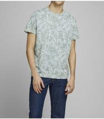 jack & jones men's organic all over printed crew neck tee shirt