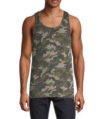 alternative men's eco miggy camo-print tank top - green - size m