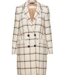 urbi coat dunne lange jas crème inwear