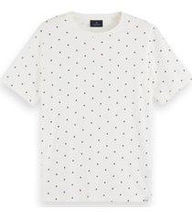 scotch & soda t-shirt stretch h allover print 159837 0461