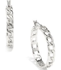 "zenzii medium curb chain hoop earrings, 1.3"""