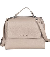 orciani detachable strap flap opening shoulder bag