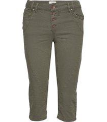 pzrosita pants trousers capri trousers grön pulz jeans