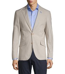 tonal pinstripe sport jacket