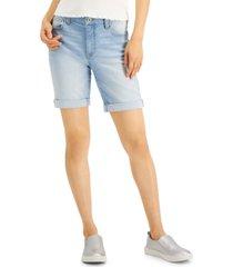 celebrity pink juniors' roll-cuff bermuda shorts