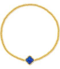kendra scott carved gemstone medallion stretch bracelet