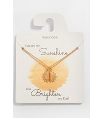 maurices womens dainty 2 piece sunshine necklace