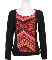 blouse spiced coral - dept - blouses - zwart