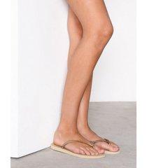 havaianas slim flip-flops sand grey