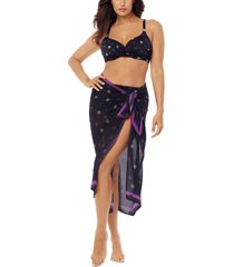 miraclesuit spotted scarf pareo cover-up women's swimsuit