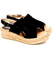 sandalia negra valentia calzados brenda