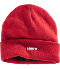 levi's men's cuff beanie with tonal embroidery