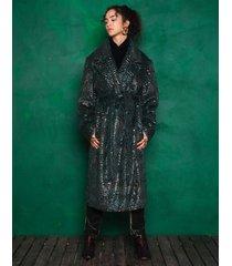 płaszcz futrzany z łuską