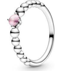 anel esferas pink - mês de outubro