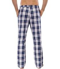 schiesser pyjamabroek ruitje blauw wit