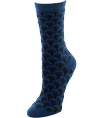 natori women's fretwork cashmere blend crew socks