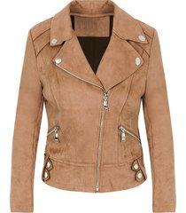 biker jacket suede camel
