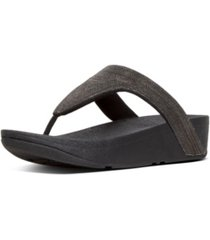 fitflop women's lottie shimmer mesh toe-thongs sandal women's shoes