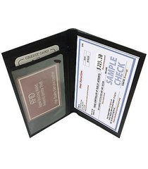rfid security blocking black genuine leather simple thin wallet checkbook cover