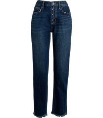 current/elliott women's high-waist straight jeans - bermuda - size 24 (0)