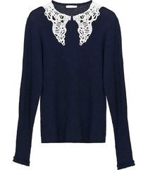 chloé chloé navy blue blouse
