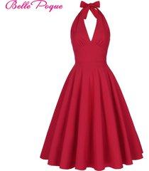 women-spring-retro-vintage-marilyn-monroe-style-halter-v-neck-party-picnic-dress