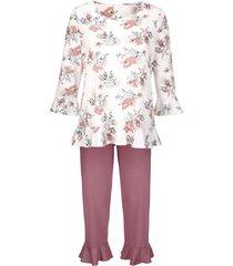 pyjama simone ecru/rozenhout/gletsjerblauw