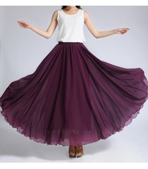 chiffon maxi skirt gray black blackberry maxi silk chiffon skirt wedding skirts