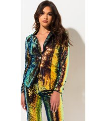 akira catch me if you can sequin blazer