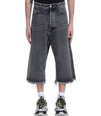 balenciaga shorts in black cotton