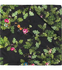 preen by thornton bregazzi floral embroidered neck-tie scarf - black