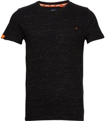 ol vintage embroidery tee t-shirts short-sleeved svart superdry