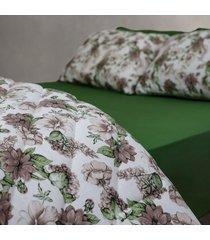 conjunto de lençol solteiro pertutty 100 % algodão conforto