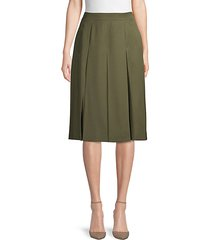 box-pleated wool skirt