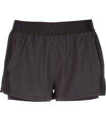 alala mesh-detail court shorts - black