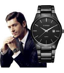 reloj de pulsera curren hombre casual negocio lujo