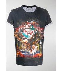 balmain vintage-inspired logo print t-shirt