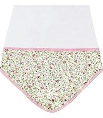 manta enxoval de malha padroeira baby laura rosa