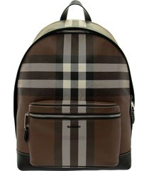 burberry jett - check e-canvas backpack