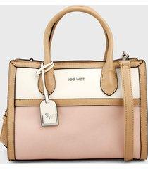 bolso rosa-blanco-camel nine west