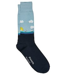 travel tech day on the water dress socks, 1-pair