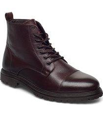 biacarlo leather boot snörade stövlar brun bianco
