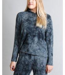 women's cozy tie-dye long sleeve hoodie