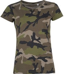 t-shirt korte mouw sols camouflage design women