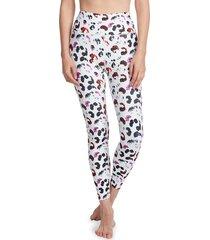 sage collective women's multicolored leopard-print leggings - lava - size m