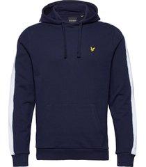 side panel hoodie hoodie trui blauw lyle & scott