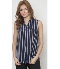 blusa cuello clasico con botones azul 609 seisceronueve