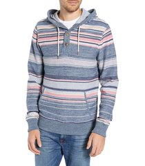men's faherty baja terry hoodie, size xx-large - blue